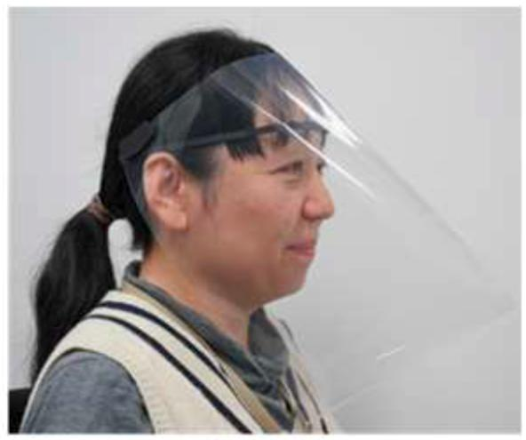 3D-printed face shield