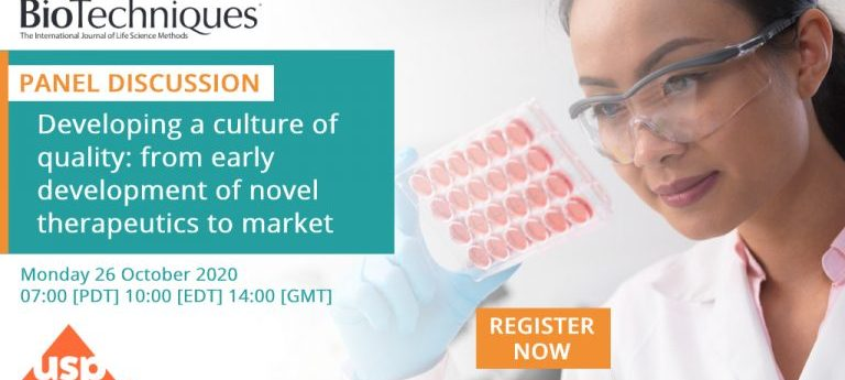 Developing a culture of quality: from early development of novel therapeutics to market